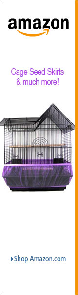 LJSLYJ Bird Cage Seed Catcher Seeds Guard Parrot Mesh Net Cover Stretchy Shell Skirt Cage Basket Soft Airy,Blue,m