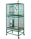 "Double Flight Cage 32"" x 21"" x 72"" - 1/2 Bar Spacing ELFDD 3221 Mfg. King's Cages"