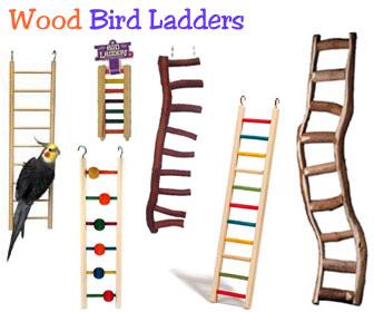 Perch Factory Wooden Bird Ladders Parrot Ladder