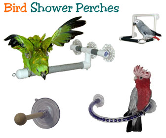 Enrilior Bird Perch for Shower,Perches Parrot Budgie Foldable Suction Cup Window Shower Bath Wall Paw Grinding Stand Toy