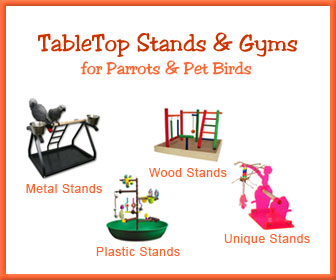 Table Top Bird Stands, Play Gyms and Portable Parrot Perches