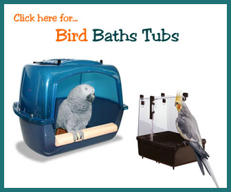 Pet Bird Bath Tub